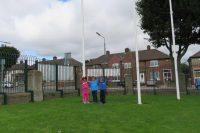 Senior Infants flying the flag for the Dubs!