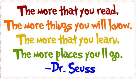 Reading Quotes | Reading Quotes Dr Seuss 2 1 Our Lady Of Consolation National School