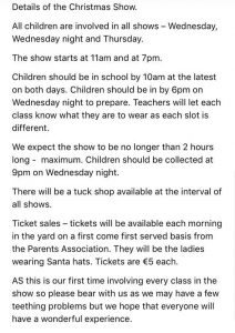 Christmas Show - Details and Tickets