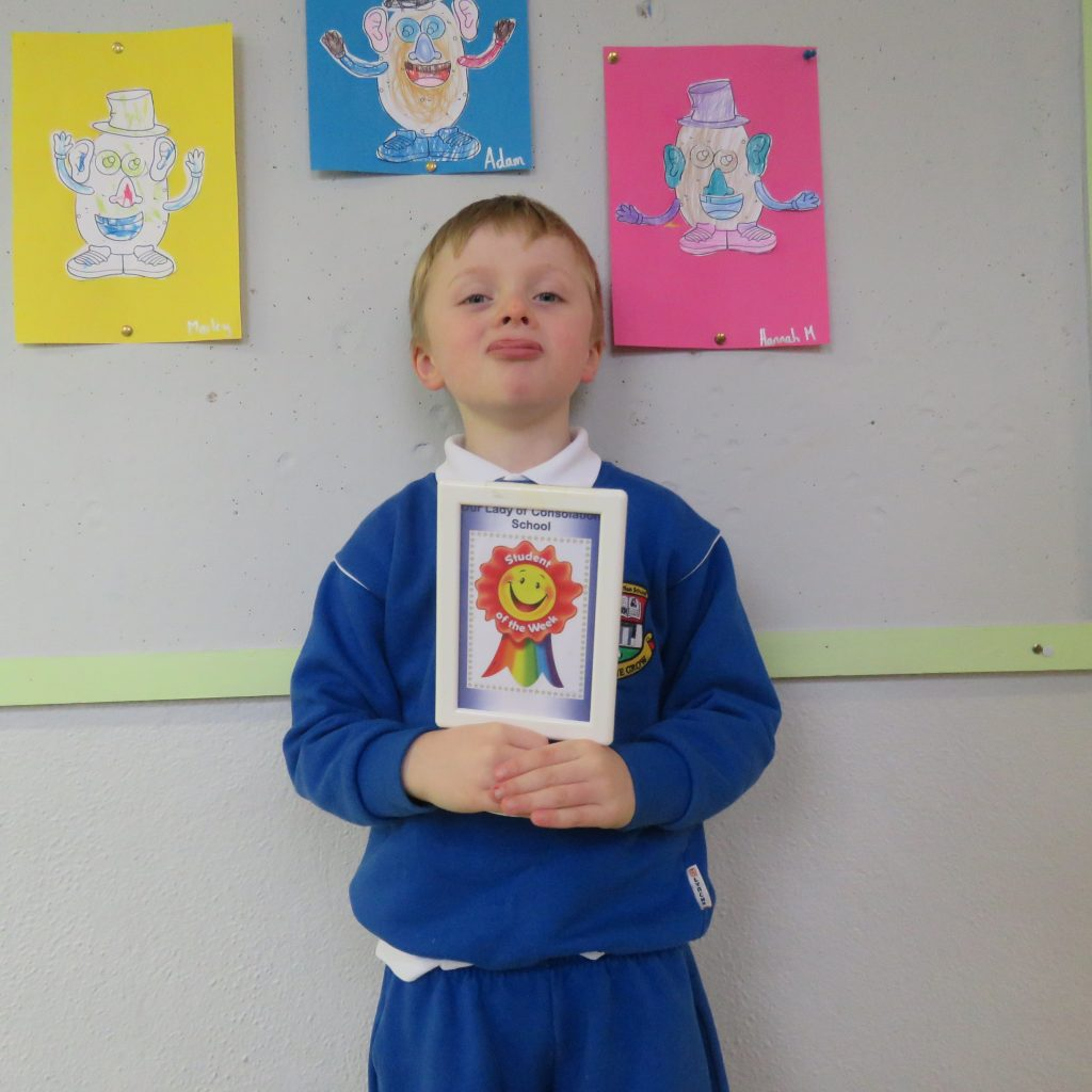 Student of the week and Gaeilgeoir na Seachaine