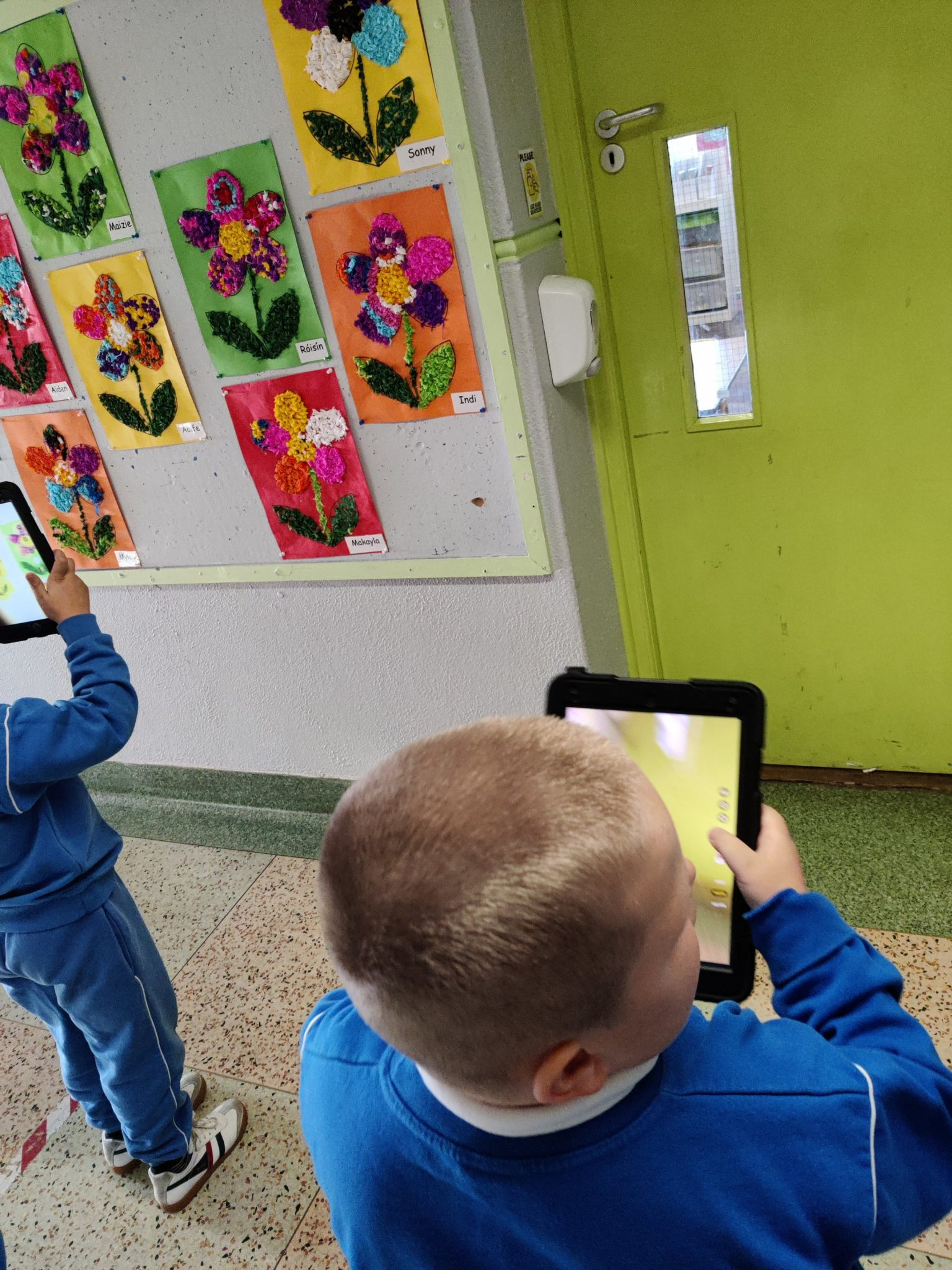 Senior infants learn about Shapes